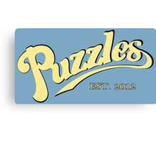 Puzzles Funny Geek Nerd Canvas Print