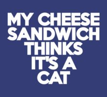 My cheese sandwich thinks it's a cat by onebaretree
