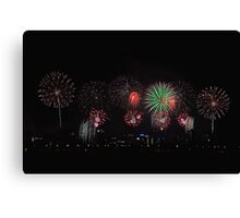Perth Skyworks 2009  Canvas Print