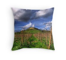 A Vineyard In Autumn  Throw Pillow