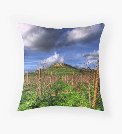 A Vineyard In Autumn  Throw Pillow