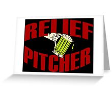 RELIEF PITCHER Funny Geek Nerd Greeting Card