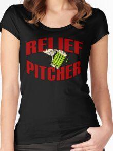 RELIEF PITCHER Funny Geek Nerd Women's Fitted Scoop T-Shirt