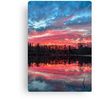 Pond at Sundown Canvas Print