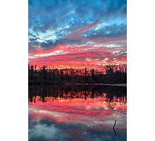 Pond at Sundown Photographic Print