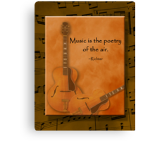 Music is Poetry Canvas Print