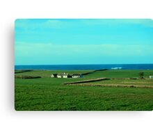 Old Irish Cottages, County Clare Canvas Print