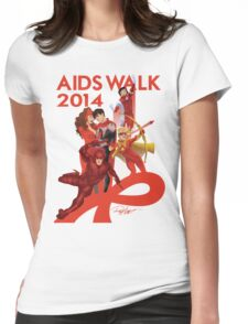 AIDS WALK 2014 Womens Fitted T-Shirt