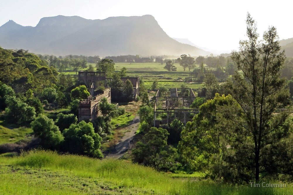 Shale oil refinery (ruin), Capertee Valley NSW by Tim Coleman