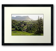 Shale oil refinery (ruin), Capertee Valley NSW Framed Print