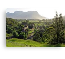 Shale oil refinery (ruin), Capertee Valley NSW Canvas Print