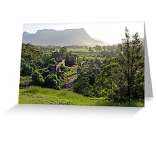 Shale oil refinery (ruin), Capertee Valley NSW Greeting Card