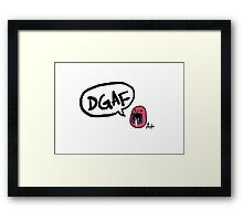 Average Joe Sentai sez DGAF Framed Print