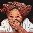 Old woman from Cambodia by Colombe  Cambourne