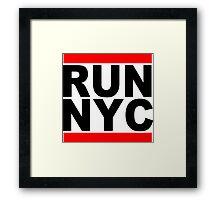 Run NYC Funny Geek Nerd Framed Print
