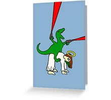 Dinosaur Riding Jesus Greeting Card