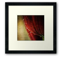 tears may fall... Framed Print