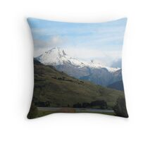 Snow capped mountains Throw Pillow