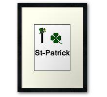 I Love St-Patrick Framed Print