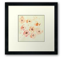 Water Color Flowers Framed Print