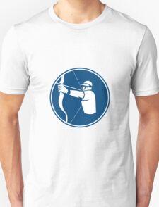 Archer Bow Arrow Circle Icon T-Shirt