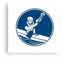 Canoeing Slalom Circle Icon Canvas Print