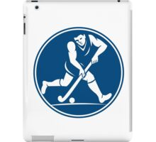 Field Hockey Player Running With Stick Icon iPad Case/Skin