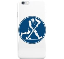 Field Hockey Player Running With Stick Icon iPhone Case/Skin