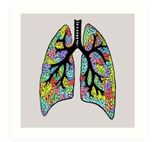 Psychedelic Lungs Art Print
