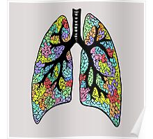 Psychedelic Lungs Poster