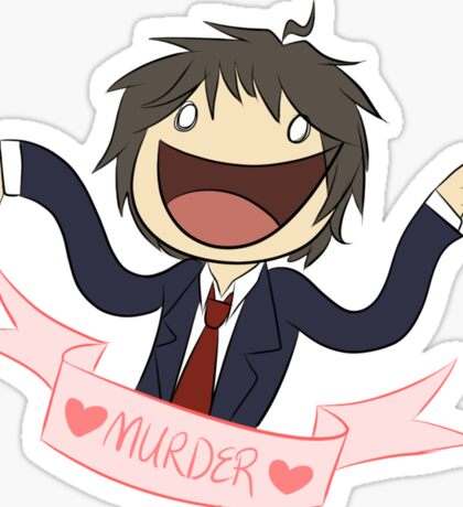 Who wants to talk about murders? Sticker