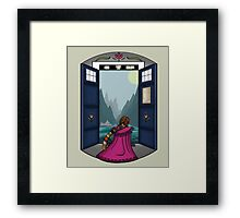 The view from here is pretty. Framed Print