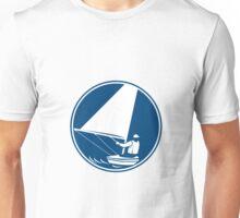 Sailing Yachting Circle Icon Unisex T-Shirt