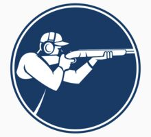Trap Shooting Shotgun Circle Icon by patrimonio