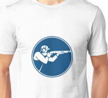 Trap Shooting Shotgun Circle Icon Unisex T-Shirt