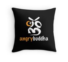 angrybuddha! (Black Face) Throw Pillow