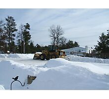 Dozer in the Snow Photographic Print