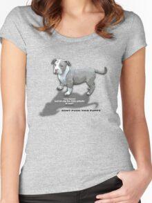 baby pitt  Women's Fitted Scoop T-Shirt