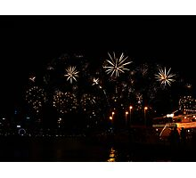 Golden Sparkles - Perth Skyworks 2009 Photographic Print