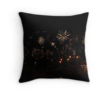 Golden Sparkles - Perth Skyworks 2009 Throw Pillow