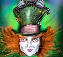 Cheshire Cat & Mad Hatter Alice in Wonderland by Ryan Biddle
