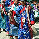 dancers from bhutan. northern india by tim buckley | bodhiimages