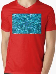 Blue Flame Mens V-Neck T-Shirt