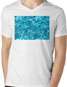Blue Flame Mens V-Neck T-Shirt