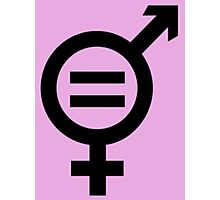 Equality - Merged Male and Female Gender Symbols Photographic Print