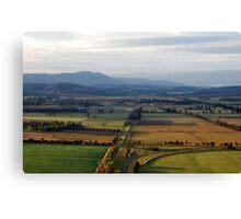 Mt Dandenong from the air Canvas Print