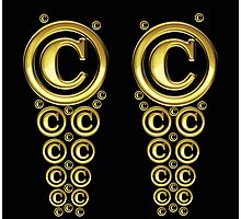 Copyright Symbol Gold Leggings Photographic Print