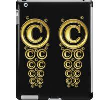 Copyright Symbol Gold Leggings iPad Case/Skin