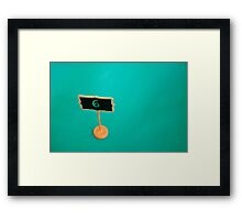 Table Number Six Framed Print