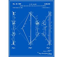 Archery Bow Patent - Blueprint Photographic Print